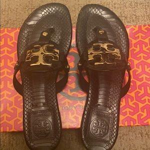 New/ Tory Burch Miller snake print sandals